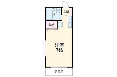 三山ハイツ 2階 1R 賃貸アパート