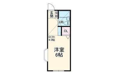 キャピトールK2階1R 賃貸アパート