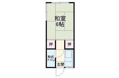 竹内荘2階1K 賃貸アパート