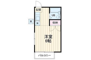 エスポワール1階1K 賃貸アパート