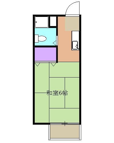 清水 バス20分 停歩3分 2階 1K 賃貸アパート