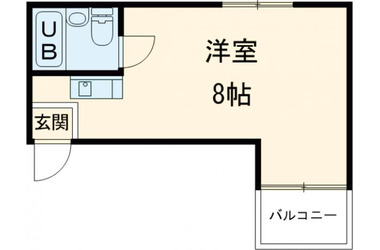 梅ヶ丘 徒歩8分4階1R 賃貸マンション
