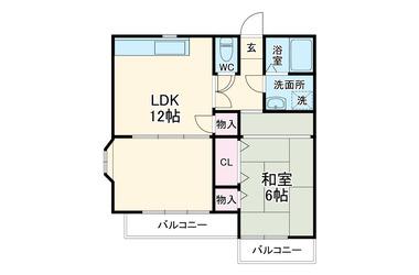 レジデンス神明2階1LDK 賃貸アパート