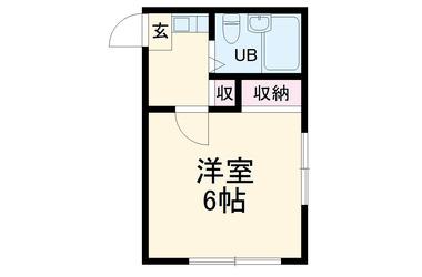 綱島 徒歩20分2階1K 賃貸アパート