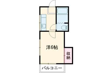 中目黒 徒歩13分2階1K 賃貸アパート