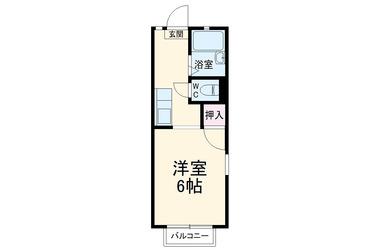 東大宮 徒歩21分 2階 1K 賃貸アパート