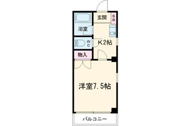 下北沢 徒歩16分4階1K 賃貸マンション