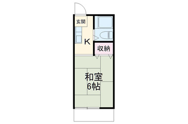 屏風浦 徒歩15分 1階 1K 賃貸アパート