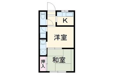 ハイツリッチマンPⅡ 2階 2K 賃貸アパート