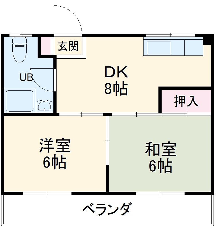 FC棚原コーポ 3階 2DK 賃貸マンション