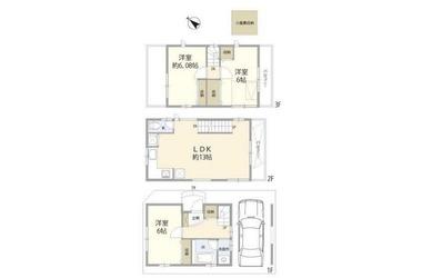 世田谷区船橋5丁目住宅1-3階3LDK 賃貸一戸建て
