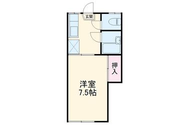 すぺーすぼん2階1R 賃貸アパート