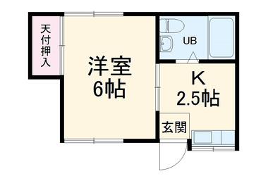 綱島 徒歩16分2階1K 賃貸アパート