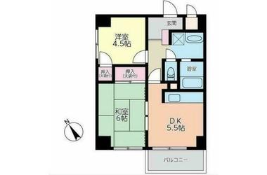 藤沢 バス11分 停歩2分3階2DK 賃貸マンション