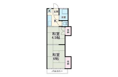 蒲生 徒歩18分 2階 2K 賃貸アパート